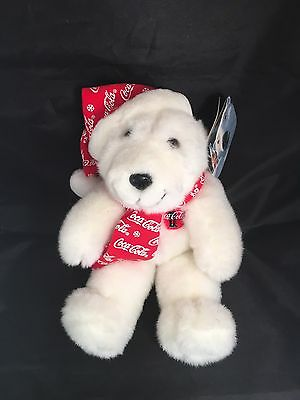 "1998 COKE BOTTLE COCA COLA BEAR PLUSH  12"".  With Tags"