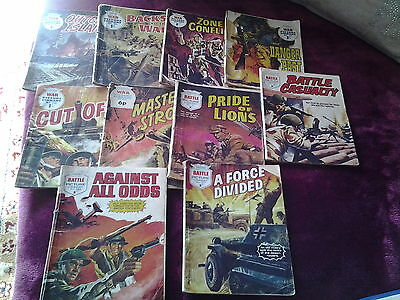 6 War picture comics & 4 Battle picture comics