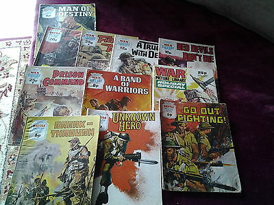 6 War and 5 Battle picture library comics