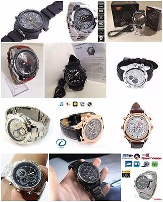 32Gb Spy Camera Dvr In Wrist Watch Motion Detection 12Mp Hd1080P Ir Night Vision