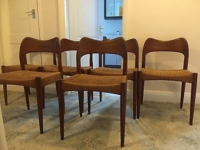 Vintage danish teak chair- set of 6