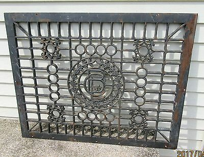 Large  Rare Ornate  Chicago Board Of Education Heat Register Floor Grate  1800's