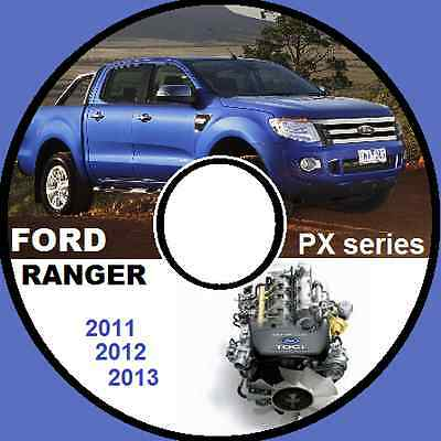 Ford Ranger Px 2011 2012 2013 P6 Workshop Service Manual 4X4 4X2