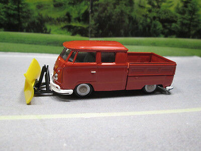 1959 '59  VW DOUBLE CAB TRUCK with SNOW PLOW  1/64 S SCALE LOOSE