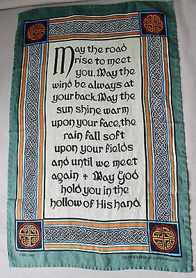"Ulster Weavers Pure Linen Towel ""Celtic Blessing"" Made in Ireland"