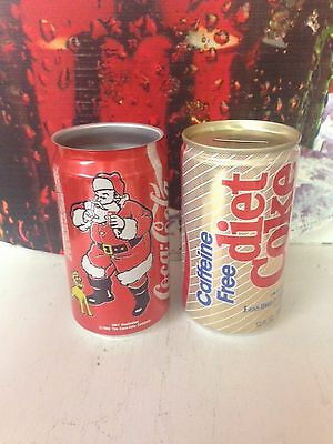 Coca-Cola Can SET Christmas UNFINISHED and Diet Coke Money Bank.