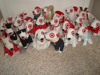 TARGET DOG BULLSEYE DOG plush stuffed animal terrier huge lot