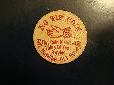 Wooden Nickel - No Tip Coin