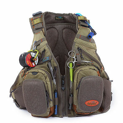 Fishpond Wasatch Tech Pack Bag Fly Fishing Vest w/ 2 Fly Benches - Driftwood