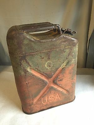 1943 N.S.I. Miltary QMC 5 Gallon Jerry Gas Fuel Can