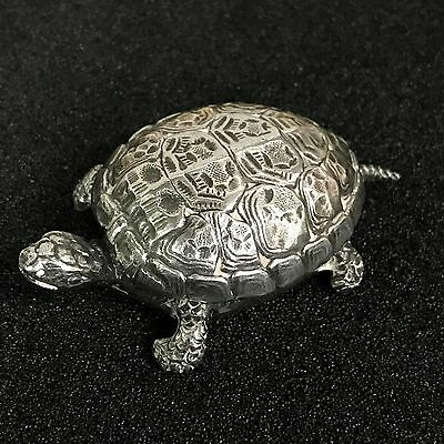Buccellati Sterling Silver Turtle Pill Box