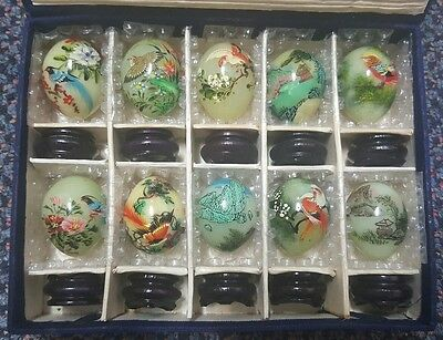 Marble Onyx Decorative Hand Painted Eggs