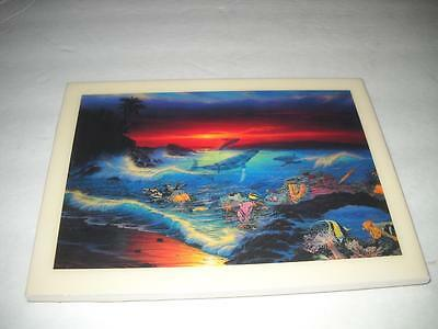 Rare New Christian Riese Lassen  Lt-102 Sea Vision Tile Artwork