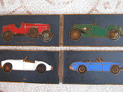 Four MG full color wall plate plaques show make history LQQKl!