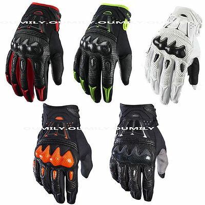 Bomber Leather Motorbike Cycling Motocross Racing Full Finger Gloves Knuckle
