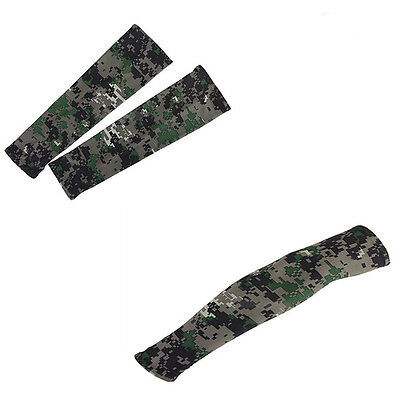 Bike Outdoor Cooling Golf Sun UV Arm Sleeves Protection Sports Camouflage