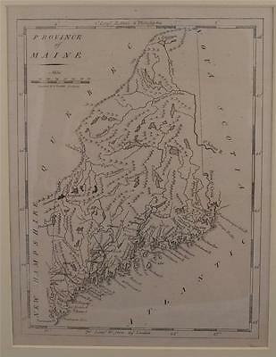 Province Of Maine Map 1805-From Carey's Amer. Pocket Atlas-Engraving A Doolittle