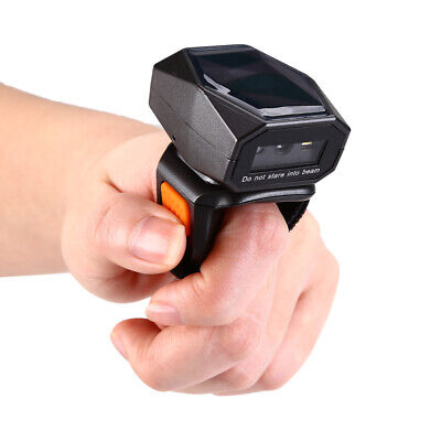 Mini Finger Ring 2D Wireless BTOOTH Scan Barcode Scanner Bar Code Data Reader