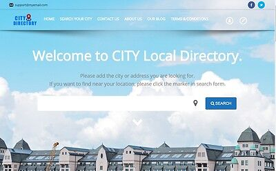 City Business Listing Directory - Website for Sale
