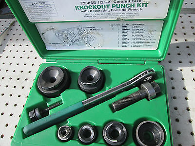 Greenlee  7238 Knockout Type Punch Set Complete