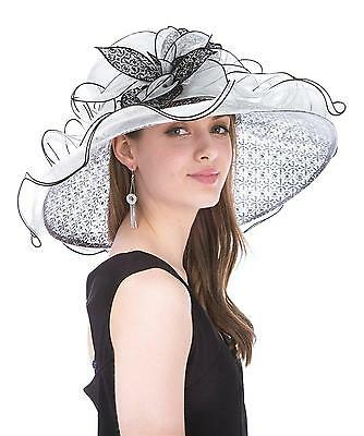 Saferin Women s Royal Fascinator Organza Church Kentucky Derby Wedding...