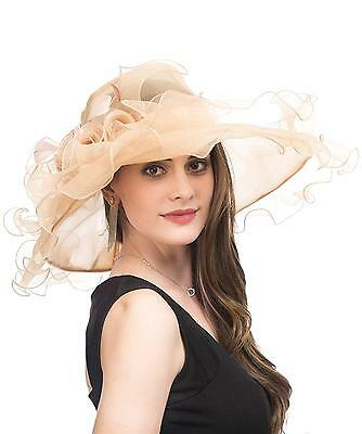 Saferin Lady Tea party Kentucky Derby Church Wedding Dress Hat Bridal Shower...