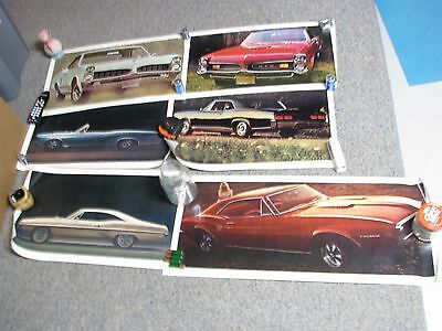 Lot of 6 Car Posters GTOs and Firebird-1970s