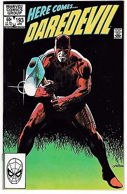 DAREDEVIL #193 (NM-) Death of Sarge! The Man Without Fear! Late Bronze-Age Issue