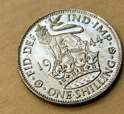 1944 Great Britain Shilling Silver