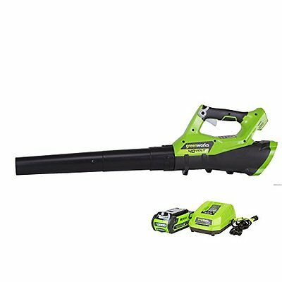 GreenWorks G-MAX 40V 110MPH - 390CFM Cordless Blower 2Ah Battery & Charger In...