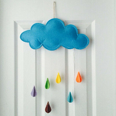 Kids Play Tent Props Toy Raining Clouds Water Drop Baby Bed Hanging Decor Room