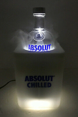 RARE Promotional Absolut Chilled LED Vodka Refrigerated Bottle Cooler For 750mL