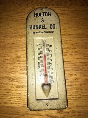 Vintage Advertising Thermometer Holton & Hunkel Milwaukee, Wisconsin