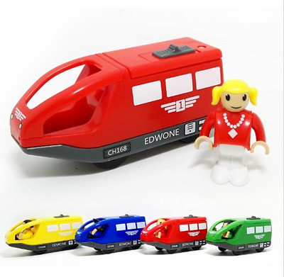 magnetic electric locomotive compatible thomas wooden track electric train set