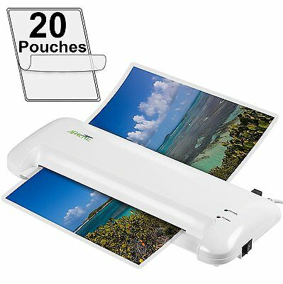 "Apache Document Photo Laminator - Hot/Cold - AL13W 13"" and 20 Pouches"