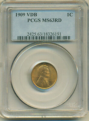 1909 VDB Lincoln Wheat Cent - PCGS MS63RD