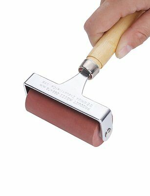 MEEDEN Hard Rubber Brayer Roller 3-Inch for Printmaking Craft Projects