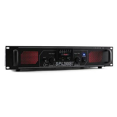 Home Media System Amplifier Powerful Output 2000W Max Bluetooth Usb Aux Sd Card