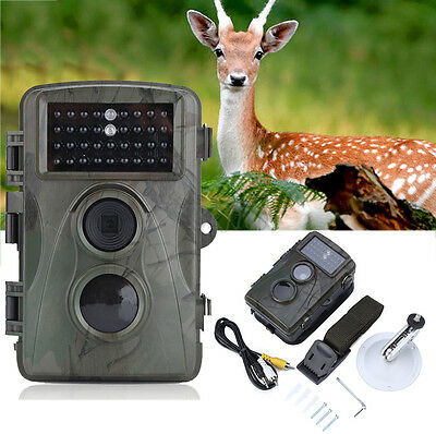 1Pc Hunting Camera IR 12MP 1080P HD Security 34 LEDs Infrared Trail Night Vision