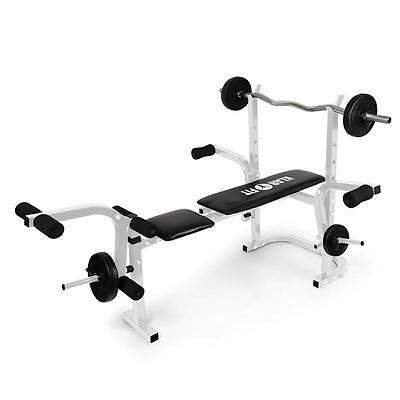 Klarfit Workout Hero Weight Bench Arm Curl Leg Curl Home Gym Power Lift Cross