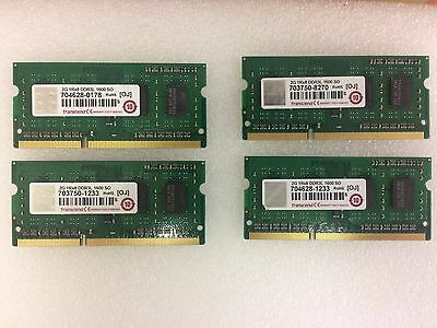 Transcend 8GB DDR3 PC3-10600S 1333mhz SODIMM Memory RAM for notebook Laptop Mac