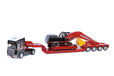 MAMMOET TOY  TRUCK - SCANIA & LOWBOY with EXCAVATOR  / 1:50 SCALE