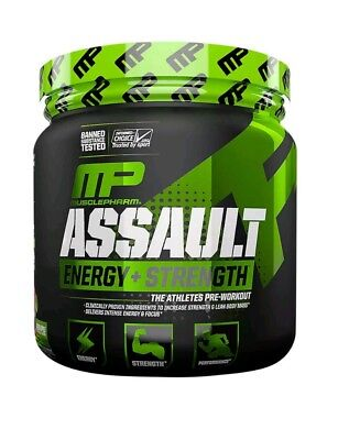 MusclePharm Assault 435g 30 Serving Pre Workout Increased Energy. ION 3 STRENGTH