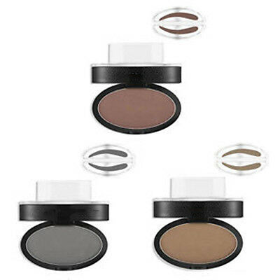 Natural Eyebrow Shadow Definition Makeup Brow Stamp Powder Palette UK STOCK NEW