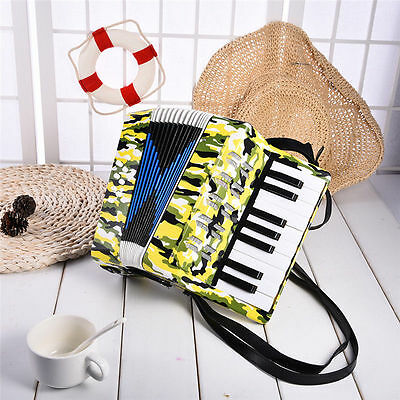 Children 17-key 8bs Camouflage Bass Accordian Kids Student Beginner Music Toys