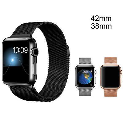 38mm/42mm Stainless Steel Magnetic Strap Band Metal Clasp for iWatch Apple Watch