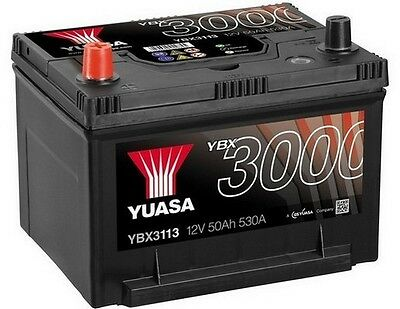 YUASA 12V Car Battery YBX3113 113 JEEP Cherokee, Patriot, Wrangler (84-)