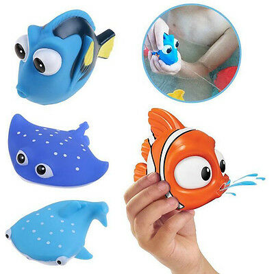 Baby Bath Toys Cute Kids Float Water Tub Rubber Bathroom Play Animals OA5