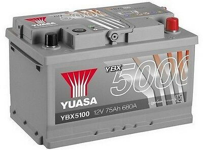 Ford Escort Mk5, Fiesta, Focus, Mondeo Transit YUASA 12V Car Battery YBX5100 100