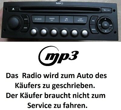 Original Autoradio MP3 PEUGEOT 207 307 807 PARTNER CITROEN C2 C3 C8 BERLINGO